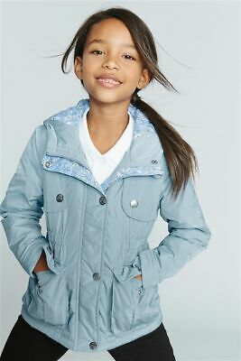 £56 jacket Girls NEXT Hooded Rain Coat Jacket 9 - 10 - 11 Years school blue WARM