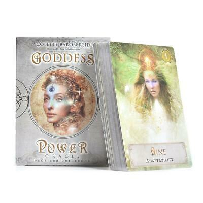 Goddess Power Oracle Tarot Cards Deck 52 Sheets Guidebook Game Card 120g