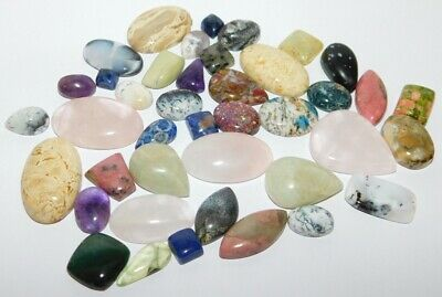 Natural Mix Gemstone Genuine Loose Gemstone Cabochon Wholesale Lot 504Cts 28290