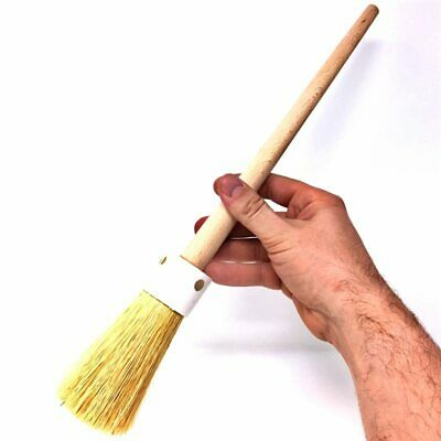 Large Lawn Brush Ceramic Pottery Sculpture Art Clay