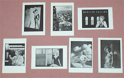 MARILYN MONROE - Set Of 7 B/W Postcards 1987 By SHOOT THAT TIGER/UK