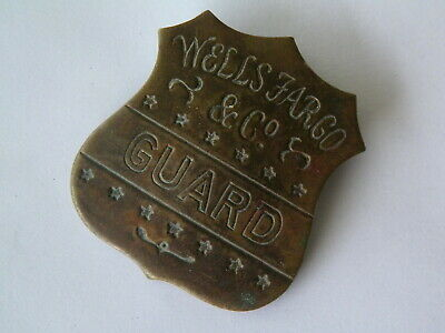 Vntg Wells Fargo Guard Hat Screwback Shield-Tiffany New York