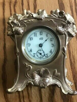 Antique Travel Carriage Clock 1890 By Jennings Brothers