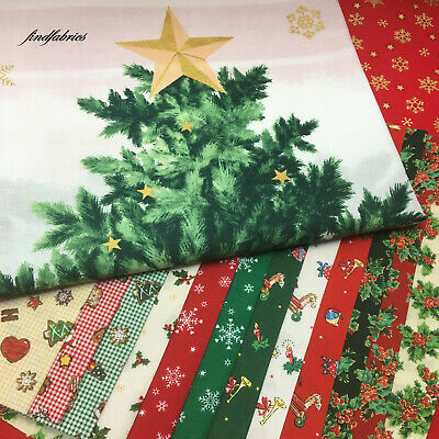Under the Chrismas Tree ~ Lecien Fabric Panel Fat Eighth & Fat Quarters Bundle