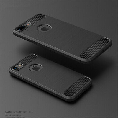 Carbon Fiber Coque Shockproof Cover For iPhone XS Max XR 8 7 Plus Soft TPU Case