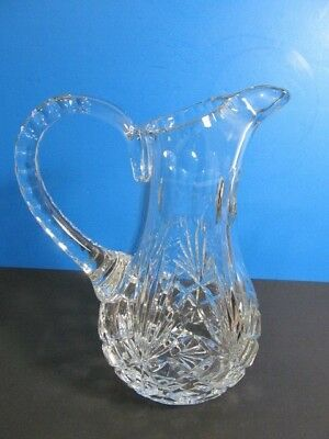 Vintage Majestic Hand Cut Heavy Crystal Sangria Carafe/Pitcher Made In Poland