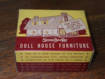 1940's Strombecker Doll House Furniture No. A66  Music Room