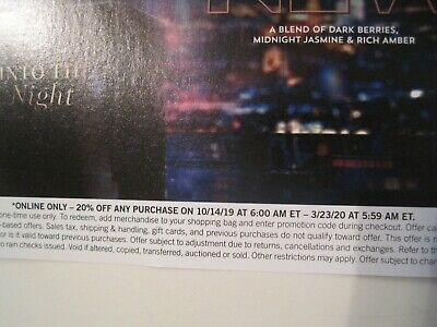 Bath and Body Works 20% Off Coupon for Online Orders Expires 3/23/2020