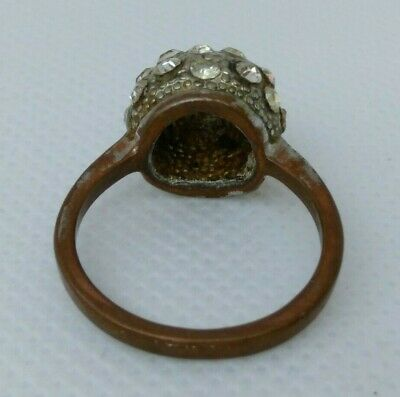 Rare Extremely Ancient 0ld Ring Bronze Legionary Roman Ring Bronze With Stones