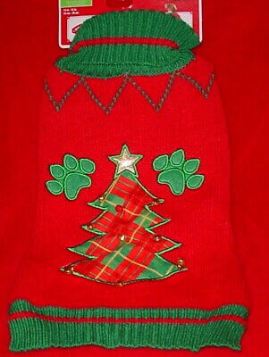 Holiday Time Christmas Dog Sweater * Red With Christmas Tree * New *Cute*