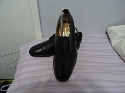 Clarks City Shoes Black Leather Lace-up Shoes, Size Uk 7 Eu 41, Great Condition