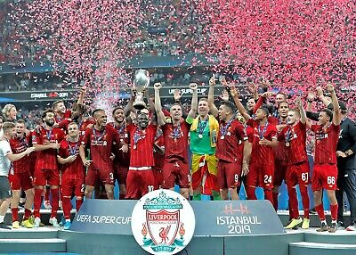 LIVERPOOL FC 2019 UEFA Super Cup winners HIGH QUALITY A4 PHOTOGRAPH