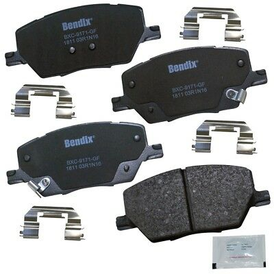 with Installation Hardware Front Bendix CFC1412 Premium Copper Free Ceramic Brake Pad