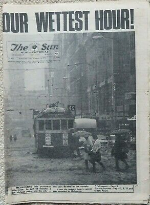 THE SUN 18/2/72: The Great Melbourne Flood: Complete, 52 pages