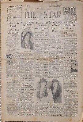 THE STAR (Melbourne): 1st Edition 30/10/33: Complete, 32 pages