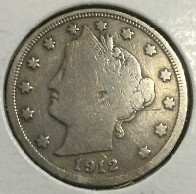 1912-D Liberty V Nickel Grading GOOD to VG Only Year With D Mintmark  DUTCH
