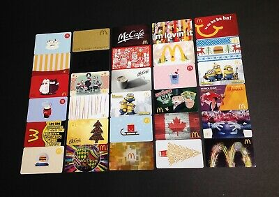 Canada  🇨🇦 Mcdonalds Gift Card ----- Lot Of 30 Pcs. ----- New