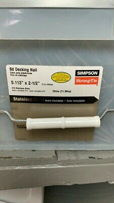 "8d decking nail Simpson Strong-Tie T8SBXB 2-1/2"" x .113"" Diamond Point 316 ss"