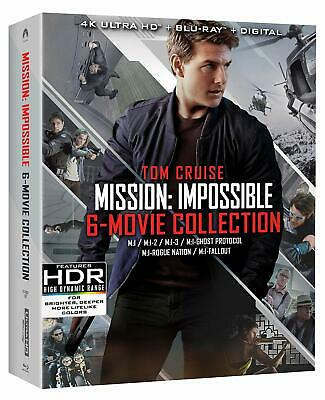 Mission Impossible 6-Movie Collection 4K Blu-ray Digital Brand NEW Tom Cruise