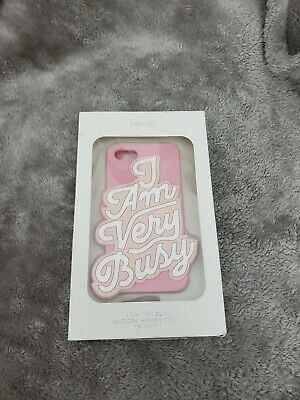 Ban.do I AM VERY BUSY iphone 7 Case Pink & White Bando