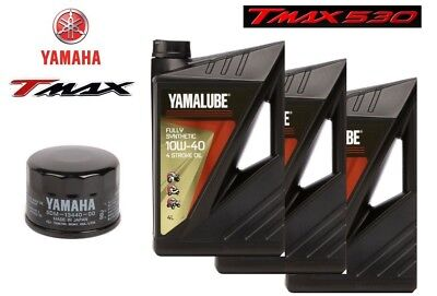 Inspection Set Yamalube FS 10W40 + Filter Tmax T-Max 530 2012 100% Synthetic
