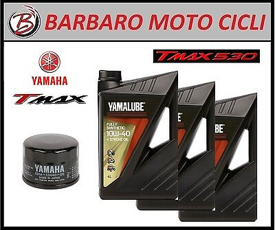 Inspection Set Yamalube Fs 10W40 + Filter Tmax T-Max 500 2008 100% Synthetic