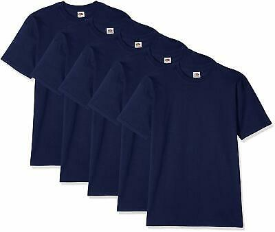 5 Pezzi T-Shirt Fruit Of The Loom Valueweight - Magliette Manica Corta Uomo
