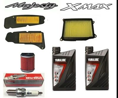 Original Kit Cutting Majesty 400 Mens 2004 a 2012 (Oil +Filters +Candle)