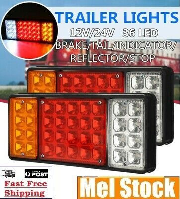 Universal Truck Caravan Boat Rear LED UTE Tail Lights Waterproof Trailers Lamp