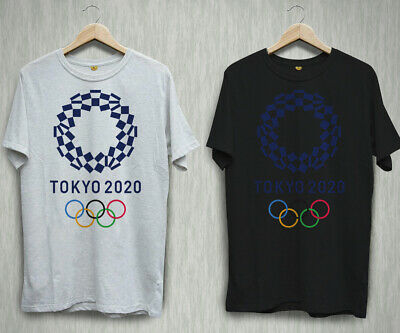 New Tokyo Summer Olympics Games 2020 Black White T-shirt Shirts Tee XS-2XL