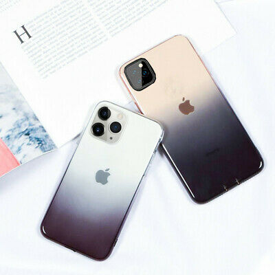 Gradient Colorful Clear Soft Slim Cover Case For iPhone 11 Pro Max XS XR X 8 7 6