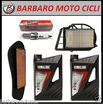 Inspection Set Yamaha X-City X-Max 250 2LT. Oil Yamalube +2 Filters Air + Candle