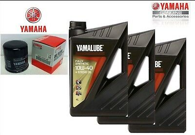 Inspection Set Yamalube FS 15w50 Oil Filter Yamaha 07 MT 09 100% Synthetic