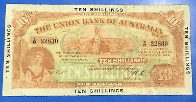 New Zealand 1923 Ten Shillings Banknote. Rare Note