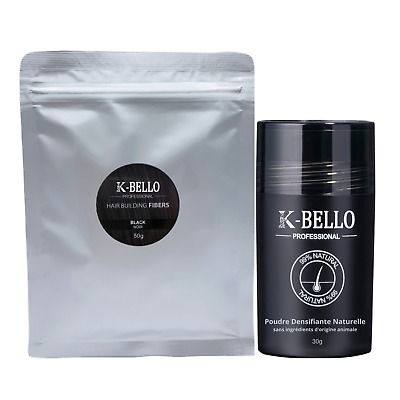 K-BELLO Hair Building Fibers poudre densitée cheveux ≠nanogen caboki hair30 kmax