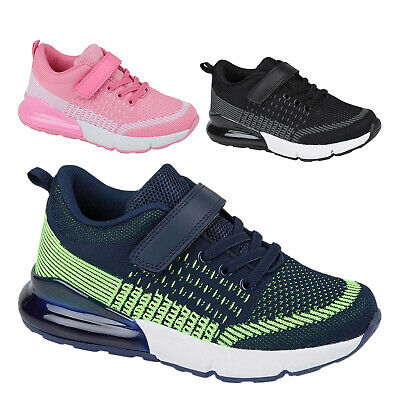 Ladies Black Trainers Womens Lace Up Gym Girls Sports Shoes Size UK 3 4 5 6 7 8