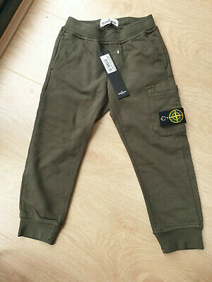 Stone Island Junior Green Boys Toddler Joggers Cargo Size 3-4 years old *BNWT*