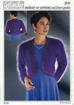 Wendy 3840 Lady Bolero Mohair 30-44in Vintage Knitting Pattern