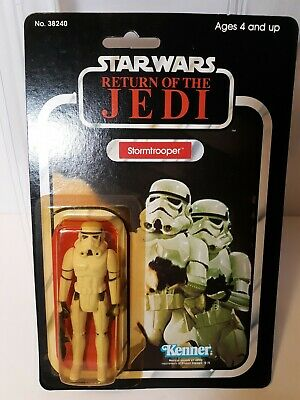 Star Wars Return of The Jedi Stormtrooper 1983 77 Back card With Star case !!