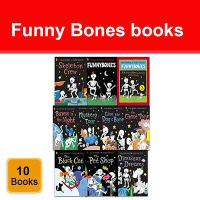 Funny Bones 10 Books Collection Set by Allan Ahlberg Pack Ghost Train NEW