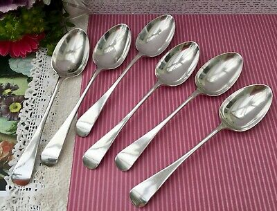 GOLDSMITHS & SILVERSMITHS CO LARGE TABLE SPOONS SET x6 SILVER PLATE A1 LONDON