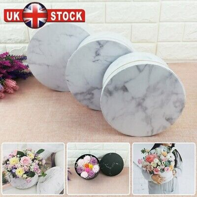 3X Florist Hat Boxes Christmas Flowers Valentine's Day Gifts Living Vase UK