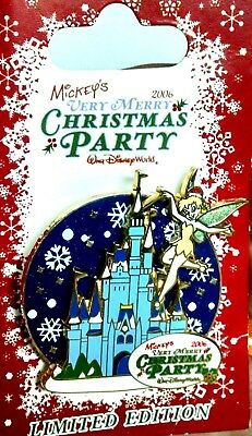 WDW Mickey's Very Merry Christmas Party Tinker Bell 2006 Spinner Pin