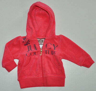 Juicy Couture USA Designer Baby Girl Hoodie Jumper 3-6 Months Pink Cotton