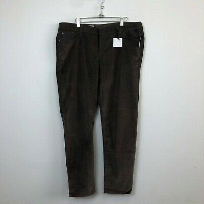 NWT Gap 1969 Women's Brown Pincord Corduroy Legging Jeans - Size 16