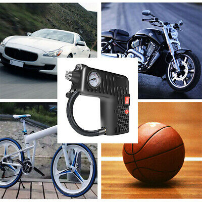 12V Portable Air Compressor Cordless Electric Auto Car Bike Tire Inflator Pump