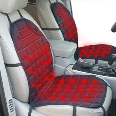 2 pcs Heating Car Seat Cushion Electric Pad Cover Auto Temperature Black & Gray