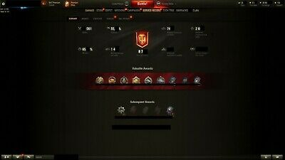 Wot Acc EU WR 55% WN8 1,8k Research All tanks Tier 10 and 143 Tanks in garage