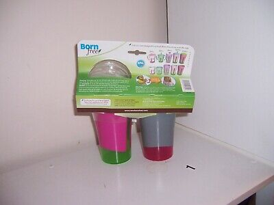 Born Free Grow with Me Pink sippy cups