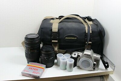 MINOLTA QTsi Film Camera with Quantaray Tech-10 MX AF & 28-80mm Spherical Bundle